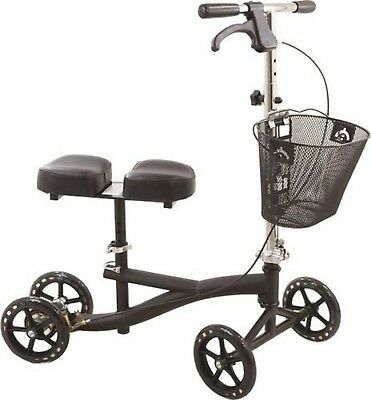 Roscoe knee scooter ROS-KSB Black Steerable with bascket for foot injury