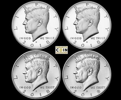 2018-S,S,P,D Kennedy Half Silver Proof,Proof,P,D All 4 PRESALE