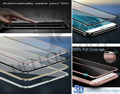 3D Metal Edge Full Coverage Ultra Clear Tempered Glass Screen Protector Cover