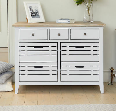 Signature Grey Painted Furniture Compact Solid Wood Sideboard With Drawers