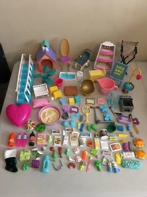 Huge Mixed Lot of Barbie Doll Accessories Groceries Food Furniture & More
