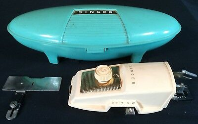 Vtg Singer Sewing Machine Button Holer Case Authentic Mid Century
