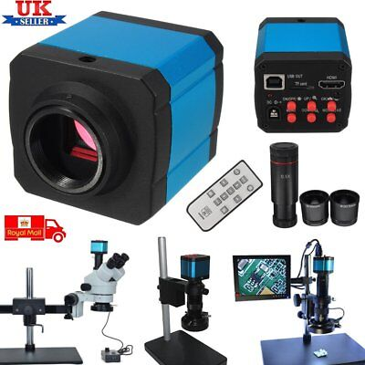 14MP 1080P HDMI C-mount Digital Industry Video USB Microscope Camera Zoom Len JP