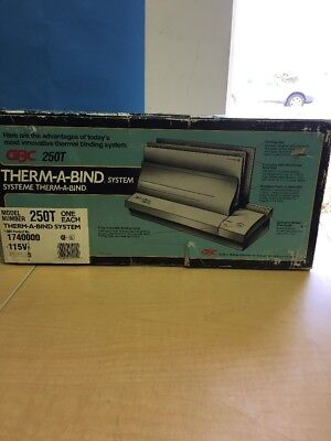 GBC Therm-a-bind System Automatic Thermal Binding Binder Model 250T Thermabind