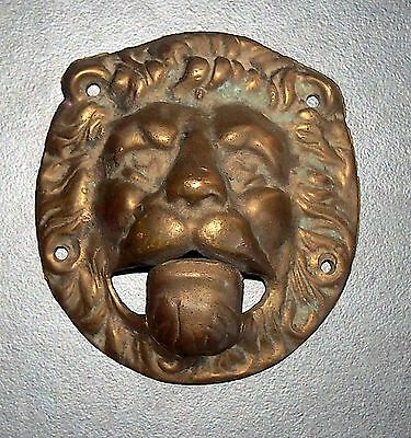Antique Bronze Door Knocker Lion Head