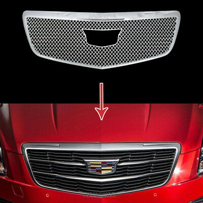 2015-2018 Cadillac ATS Chrome Snap On Grille Overlay Front Grill Covers Insert