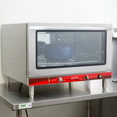 Avantco Single Deck Full Size Electric Counter Convection Oven Steam Injection