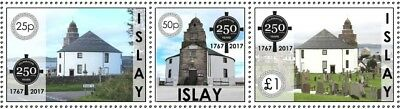 "GB Local stamps: Isle of Islay (2017): ""250 Years of the Round Church"" set"