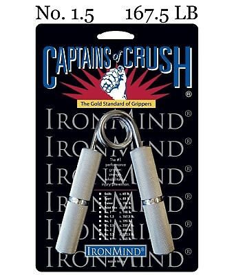 IronMind - Captains of Crush CoC Hand Grippers - No. 1.5 - 167.5 lb - BEST VALUE