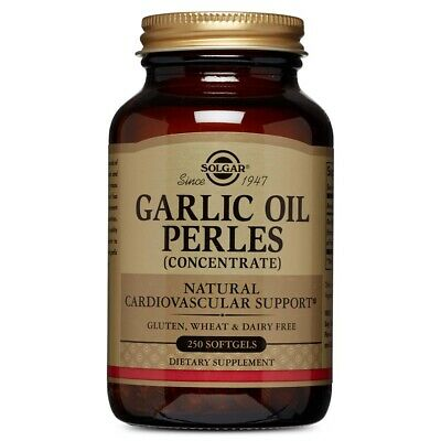 Solgar Garlic Oil Perles (Reduced Odor) 250 Softgels FREE US SHIPPING FRESH