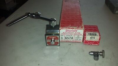 Starrett 657A Magnetic Base with Swivel Post Assembly and 657S Sleeve