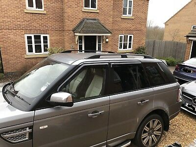Range Rover Sport 2005-2013 Aluminium Roof Rail Bars Racks Black Colour *new*