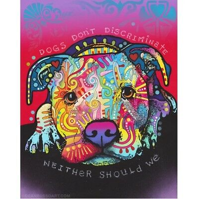 "Dogs Don't Discriminate Print 8""x 10"" by Dean Russo (DR081)- Free Shipping"