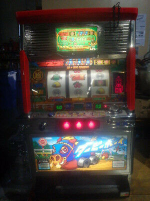 JAPANESE Sanyo SLOT MACHINE 777-Derby Race Lights W/TOKENS--Works!-LOCAL PICKUP