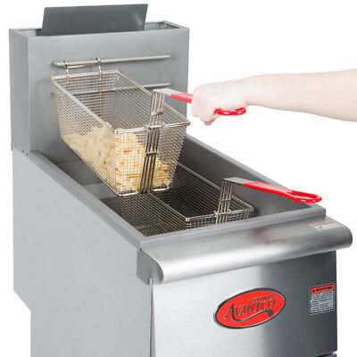 FF400 Commercial Natural Gas or Propane 40lb Stainless Steel Floor Deep Fryer