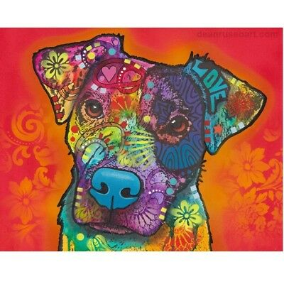 "Fire Love Pit Bull Print 8""x 10"" by Dean Russo DISCONTINUED - Ships Free"