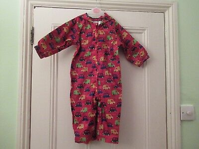 12-18m: Hooded splash suit/puddle suit: Showerproof: Red cars: Mothercare