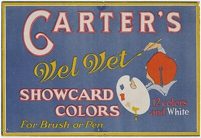ADVERTISING WINDOW CARD/POSTER CARTER'S INK c.1920