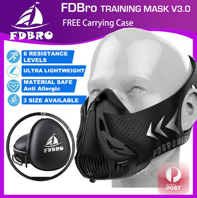 Phantom Training Mask Workout High Altitude Elevation Stimulation +Carrying Case