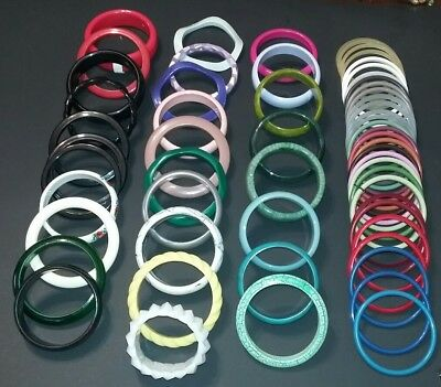 Huge Lot of 60 Vintage to Modern Plastic Bracelets! Unchecked and Untested.