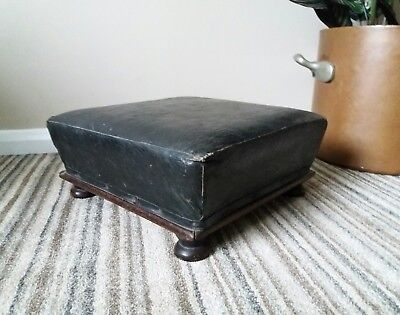 Vintage Leather Foot Stool