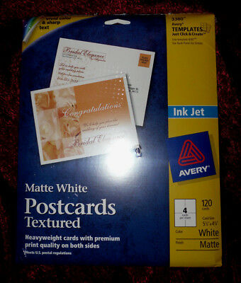 Avery Textured Postcards 425 X 55 Inches White 120 Cards 3380