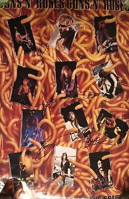 GnR Spaghetti Incident Poster Autographed By 5 Members Axl Rose Slash