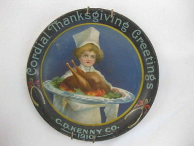 C.d. Kenny Co. 1910 Thanksgiving Tip Tray