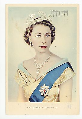 """Her Majesty Queen Elizabeth"" Young Queen—Vintage English Royalty PC Jewelry 53"