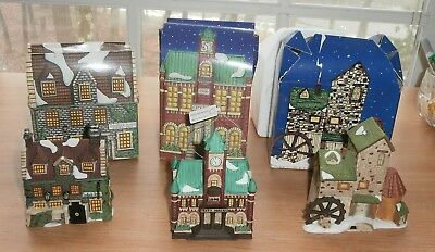 Lot 3 Christmas Department 56 Heritage Dickens Village House Ornaments MIB