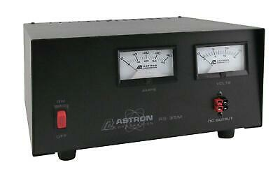 Astron RS-35M Table Top 35 Amp Regulated DC Power Supply w/ Dual Meters