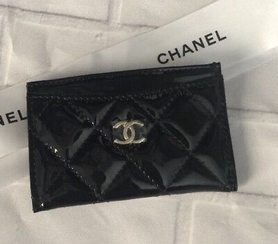 Authentic Chanel Vip Faux Patent Leather Card Holder US SELLER