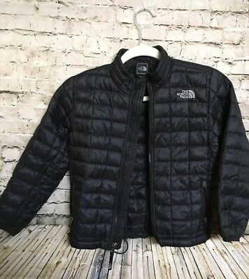 Boys North Face Black Full Zip Lightweight Thermoball Down Jacket. Size S / 6