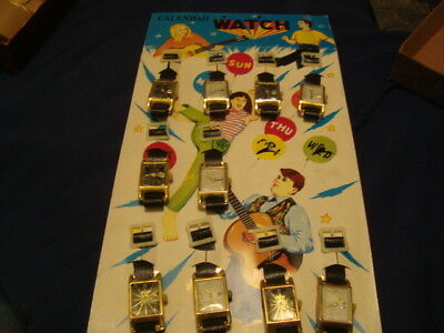 Vintage Toy Watches On Card 10 Japan
