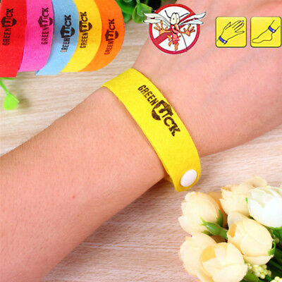 5Pcs Anti Mosquito Bug Repellent Wrist Band Bracelet Insect Bangle Lock Camping