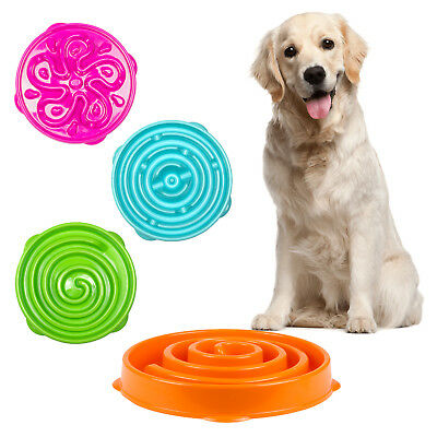 Pet Dog Puppy Large Slow Down Eating Feeding Bowl Anti Choke Dish Food Feeder