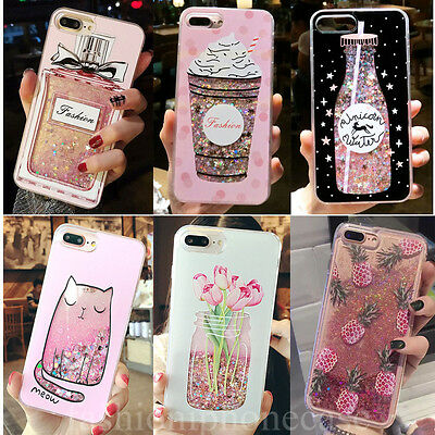 Drink Bottle Bling Dynamic Liquid Glitter Soft TPU Case For iPhone Xs Max 8 Plus