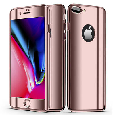 Luxury Ultra Slim 360 Degree Plating Mirror Case Cover For iPhone Xs Max 8 7Plus