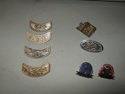Lot of 8 Harley Owners Group HOG pins 1998 1999 2000 2001 2002 2009 pin EIGHT