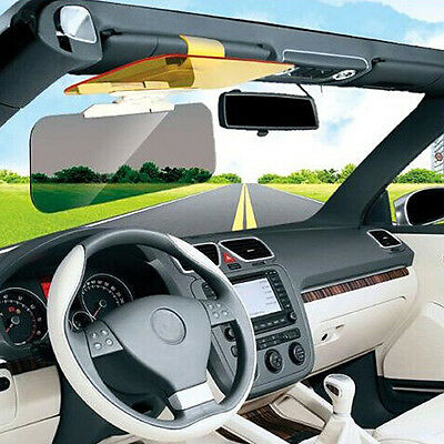 Car Anti-Glare & Dazzling Goggle Day and Night Vision Driving Mirror Sun Visors