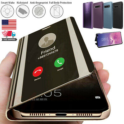 Samsung Galaxy S20+ Ultra Note 10+ 9 8 S-view Mirror Smart Flip Stand Case Cover