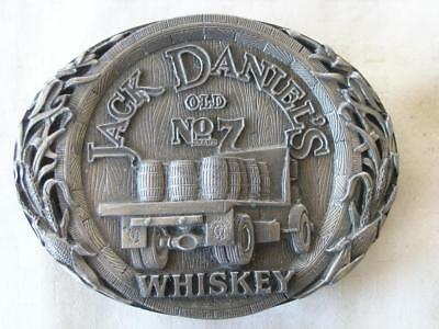 JACK DANIELS 1995 OLD No. 7 WHISKEY BARREL TRUCK BELT BUCKLE