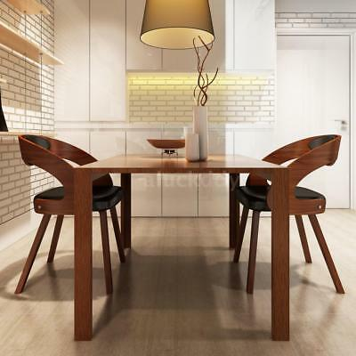 Dining Chair With Padded Bentwood Seat Home Office Modern Furniture 2 Pcs Q0U9