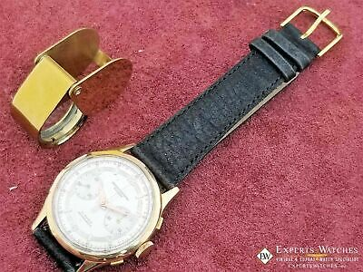 Serviced Vintage Cronographe Suisse Chronograph 18K Gold Landeron 248 Watch