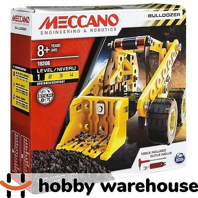 Meccano 18206 Wheels and Moving Parts Construction Set - Bulldozer