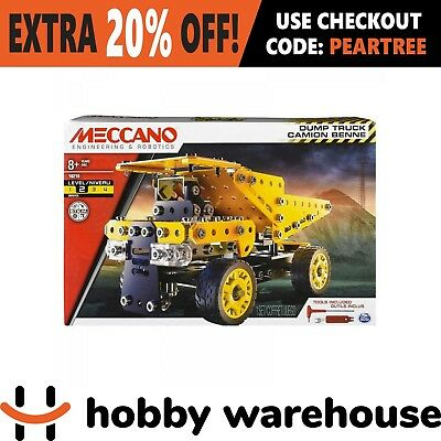 Meccano 18210 Wheels and Moving Parts Construction Set - Dump Truck