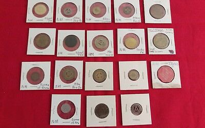 Lot Of 18 New Mexico School Tax & Bus Tokens & Other Kinds Tokens N.m.