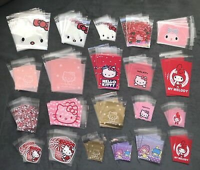Lot 105 Self Seal Hello Kitty My Melody Cello Bags Clear Plastic Gift Cellophane