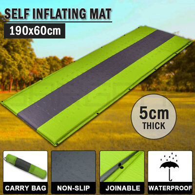 Self Inflating Mattress Sleeping Pad Mat Air Bed Camping Camp Hiking Joinable Gr