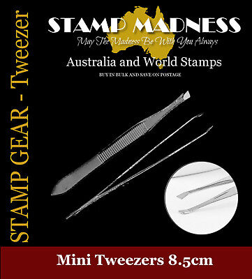 STAMP GEAR - Stamp Tweezers Stainless Steel 8.5cm long Brand New